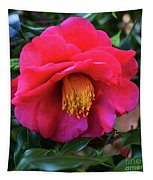 Red Camelia Tapestry