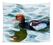 Red Crested Red Beak Red Eye Duck Tapestry