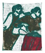 Red Detachment Of Women Painting Tapestry