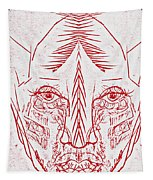 Red Face Tapestry