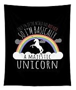 Red Hair Majestic Unicorn Funny Redhead Tapestry