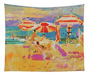 Red Parasols, Miami Tapestry