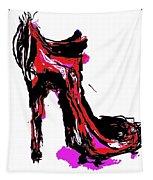 Red Shoe With High Heel Tapestry
