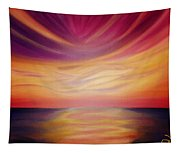 Red Sky Sunset Tapestry