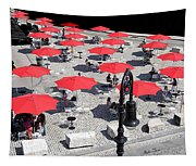 Red Umbrellas 2 Tapestry