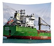 Redhead Freighter Tapestry