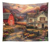 Relaxing On The Farm Tapestry