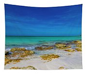 Remote Beach Paradise Turks And Caicos Tapestry