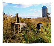 Retired John Deere Tractor 2 Tapestry
