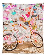 Retro City Cycle Tapestry