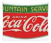 Retro Coke Sign Tapestry