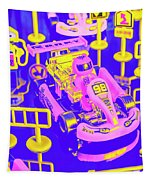 Retro Race Day Tapestry