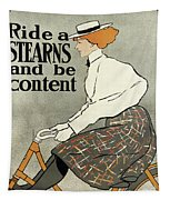 Ride A Stearns And Be Content, Circa 1896 Tapestry