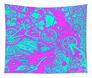 Riding Retro Routes Tapestry