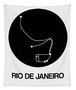 Rio De Janeiro Black Subway Map Tapestry