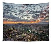 Rio Grande River Sunrise 2 - White Rock New Mexico Tapestry