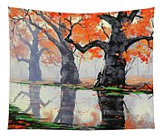 Riverside Trees Tapestry
