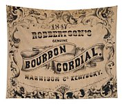 Robbertson's Kentucky Bourbon Cordial Ad C. 1857 Tapestry