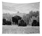 Rocky Mountain Bison Tapestry