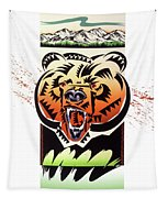 Rocky Mountain Grizzly Tapestry