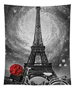 Romance At The Eiffel Tower Tapestry