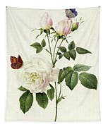 Rosa Bengale The Hymenes By Redoute Tapestry
