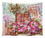 Rose Bundle With Copper Pot Tapestry