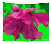 Rose Of Sharon Rain Drops Tapestry