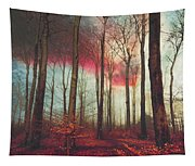 Ruby Red Evening Tapestry