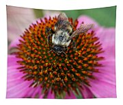 Rudbeckia Coneflower With Bee, Canada Tapestry
