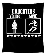Runner Mom Dad Gift Parent Of Track And Field Daughter Tapestry
