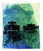 Rush Watercolor Tapestry