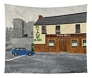 Ryans Pub And Swords Castle Painting Tapestry
