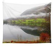 Rydal Water On A Misty Day In December Tapestry
