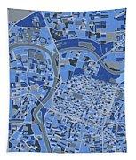 Sacramento Map Retro 5 Tapestry