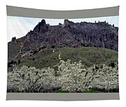 Saddle Rock And Apple Blooms Tapestry