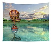 Sailing Away Daydream Steampunk Custom Tapestry
