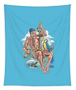 Sailor On Anchor Tapestry