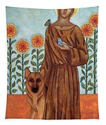 Saint Francis And The Wolf Of Gubbio Tapestry