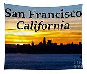 San Francisco Sunrise 2x3 Tapestry