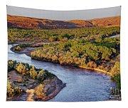 San Juan River At Sunrise Tapestry
