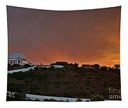 Santuario De Nossa Senhora Da Piedade At Sunset In Loule Tapestry