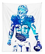 Saquon Barkley New York Giants Water Color Pixel Art 11 Tapestry