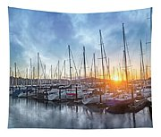 Sausalito California Morning Airs Tapestry