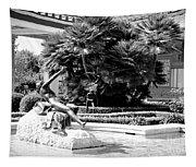 Sculpture Getty Villa Black White  Tapestry