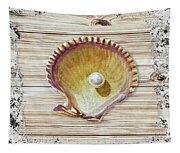 Sea Shell Beach House Rustic Chic Decor IIi Tapestry