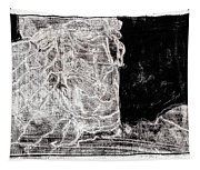 Self In Black Coloured Oil Transfer Drawing 11 Tapestry