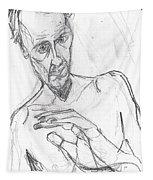 Self-portrait Pencil Reach 11 Tapestry