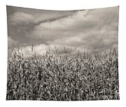 Sepia Field Of Corn Tapestry