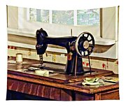 Sewing Machine In Kitchen Tapestry